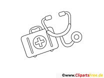 Trousse à pharmacie clip art – Santé à imprimer