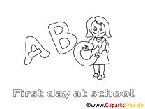 Alphabet image gratuite – Élémentaire à imprimer
