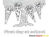Arbre clip art – Élémentaire image à colorier
