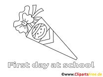 Clipart élémentaire dessins à colorier
