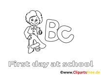 Coloriage école élémentaire image à télécharger
