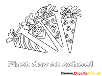 École dessin – Coloriage élémentaire à télécharger