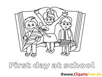 École illustration – Élémentaire à colorier