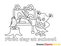 Hibou dessin à télécharger – Élémentaire à colorier