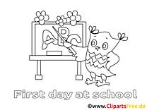 Hibou illustration – Élémentaire à imprimer