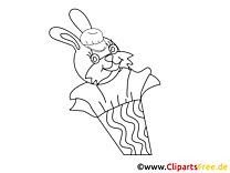 Lièvre dessin gratuit – Élémentaire à colorier