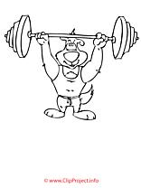 Barre clip art – Sport image à colorier
