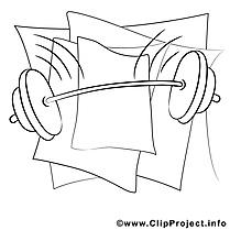 Barre dessin – Sport gratuits à imprimer