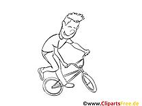 Bicyclette dessin – Sport gratuits à imprimer