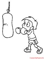 Boxeur coloriage