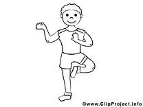 Clip art gratuit yoga – Sport à imprimer