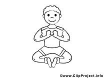 Clip arts yoga – Sport à imprimer