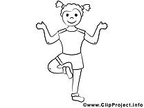 Coloriage fitness sport image à télécharger
