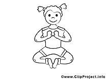 Coloriage yoga sport image à télécharger