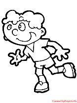 Sport coloriages clipart images t l charger gratuit - Coureur dessin ...