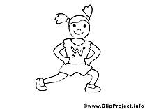 Fitness dessin à télécharger – Sport à colorier