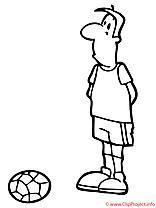 Footballeur coloriage