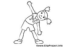 Gymnastique dessin – Coloriage sport à télécharger