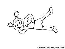 Gymnastique dessin à télécharger – Sport à colorier
