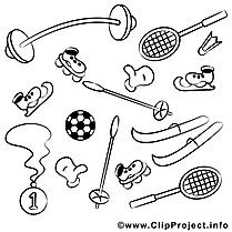 Matériel clip arts – Sport à imprimer