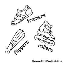 Patins à roulettes clip art gratuit – Sport à imprimer