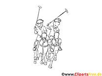 Polo dessins gratuits – Sport à colorier