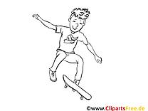 Skateboard images – Sport gratuits à imprimer