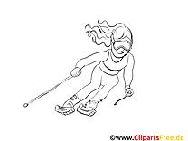 Ski clip art gratuit – Sport à imprimer