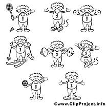 Sport image – Gens images à colorier