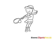 Tennis image gratuite – Sport à colorier