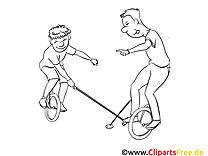 Unicycles images – Sport gratuits à imprimer