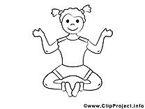 Yoga image gratuite – Sport à colorier