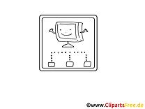 Coloriage tv robot illustration à télécharger