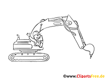 Excavateur image gratuite – Machines à imprimer