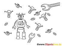 Robot dessin à télécharger – Machines à colorier