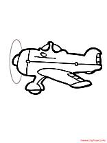 Avion de chasse coloriage