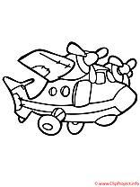 Avions à colorier image gratuite à télécharger