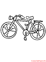 Bicyclette coloriage