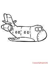 Clipart avions dessins à colorier