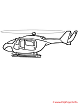 Helicoptere coloriage