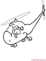 Hélicoptère images gratuits à imprimer