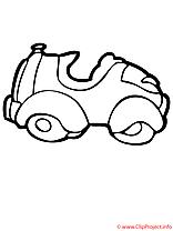 La voiture de jouets coloriage