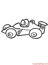 La voiture pour le karting coloriage