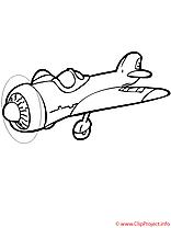 L'aeroplane coloriage