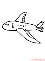 L'avion de ligne de voyageurs coloriage