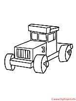 Le tracteur de jouets coloriage