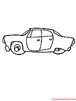 Le vehicule moderne coloriage