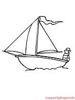Le voilier coloriage