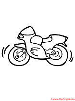 Motocyclette coloriage