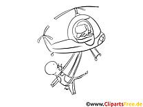 Vache dessin à télécharger – Hélicoptère à colorier